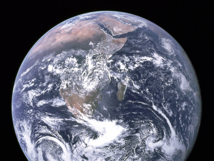The planet Earth seen from Apollo 17